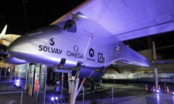 solar plane makes inaugural flight in switzerland set to