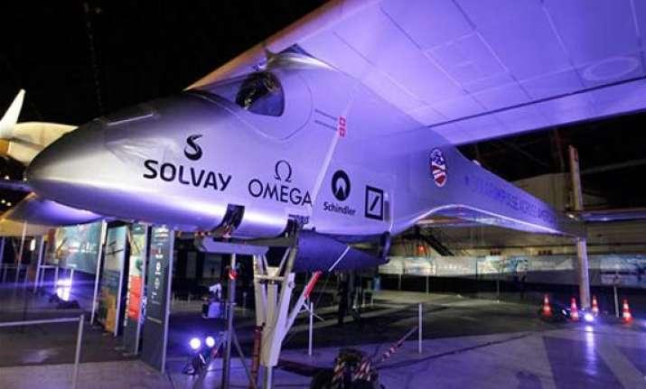 solar powered plane plans flight across us