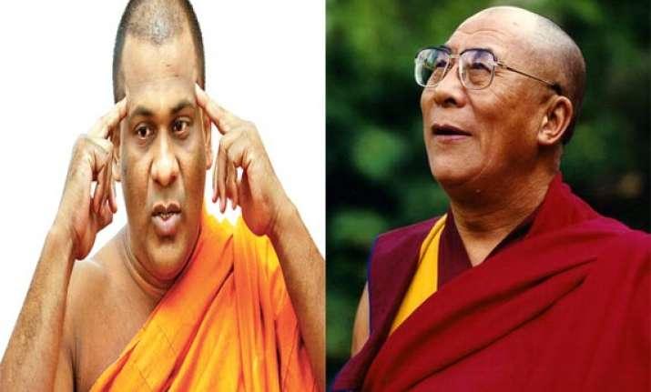 sri lankan monk rejects dalai lama as spiritual leader