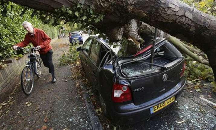 storm batters britain france disrupting normal life