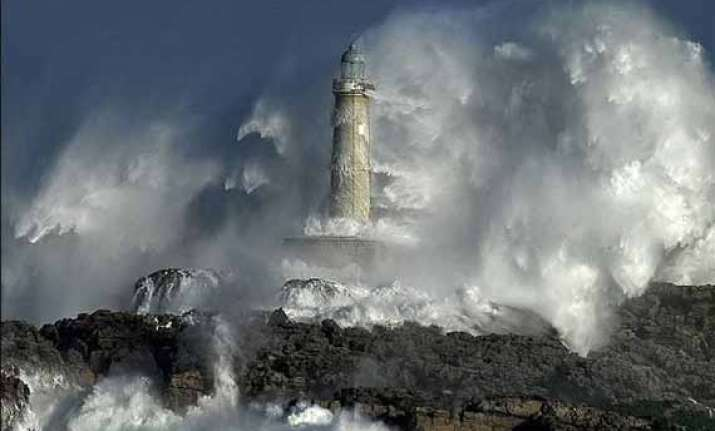storms batter north coast of spain