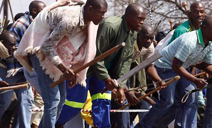 striking safrican miners reject lonmin wage offer
