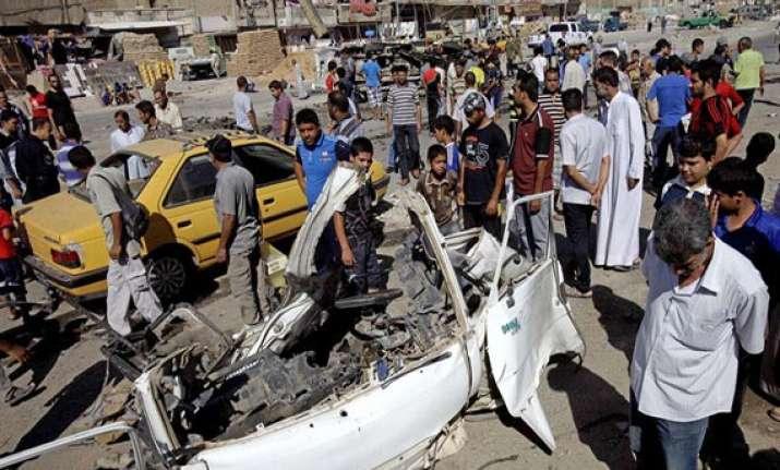 suicide bombing in park attacks kill 36 in iraq