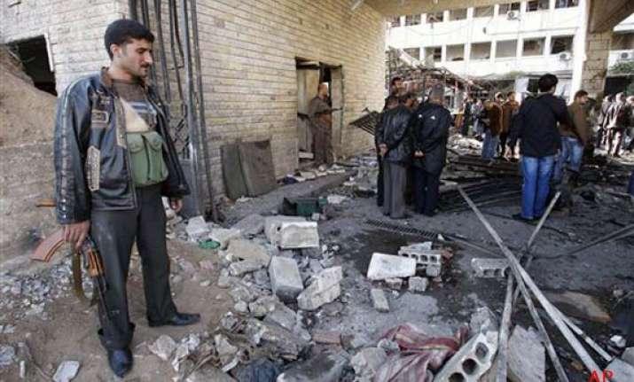 syria twin suicide bombs shake capital kill 44