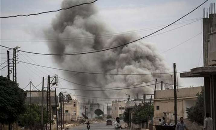 syrian fighter jets bomb rebel held areas in north
