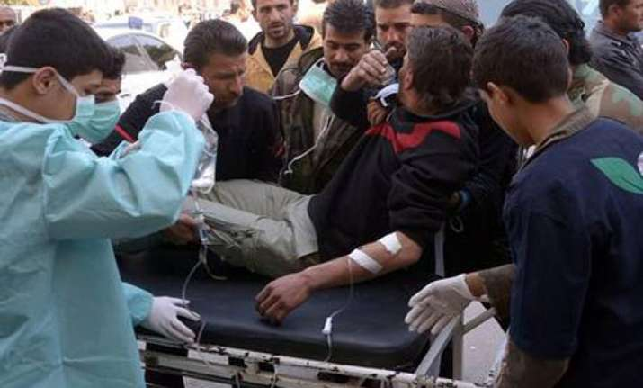 syrian opposition claims poisonous gas attack