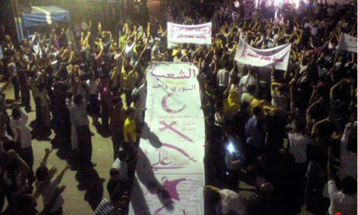 syrian security forces fire on rallies killing 30