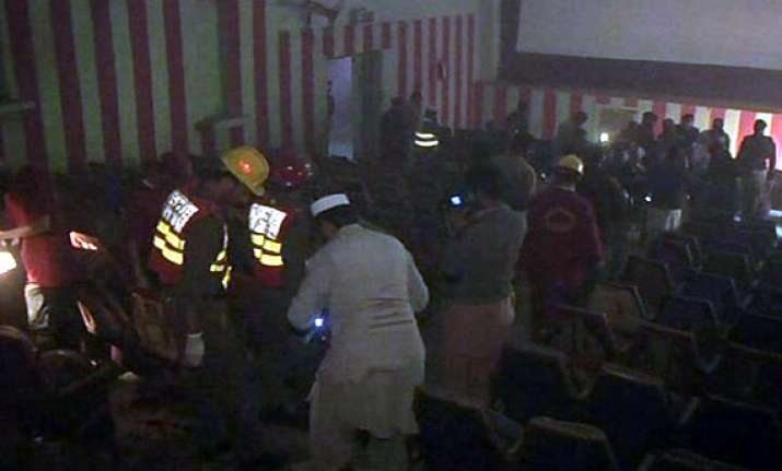 13 killed by blasts in cinema hall in peshawar