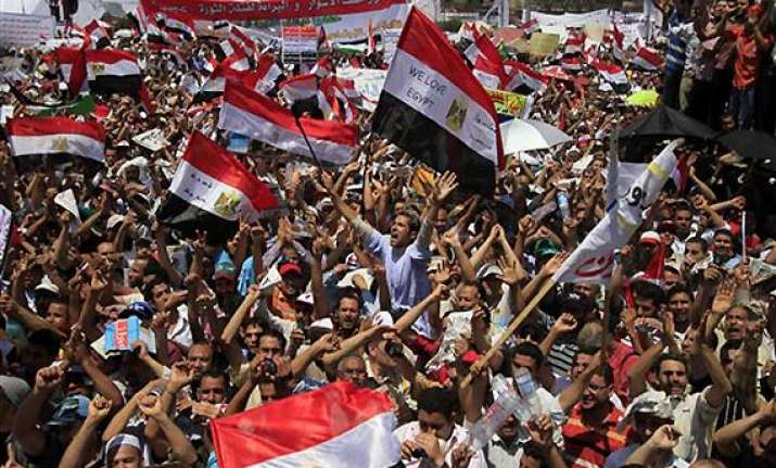 thousands protest in egypt demanding justice for victims of