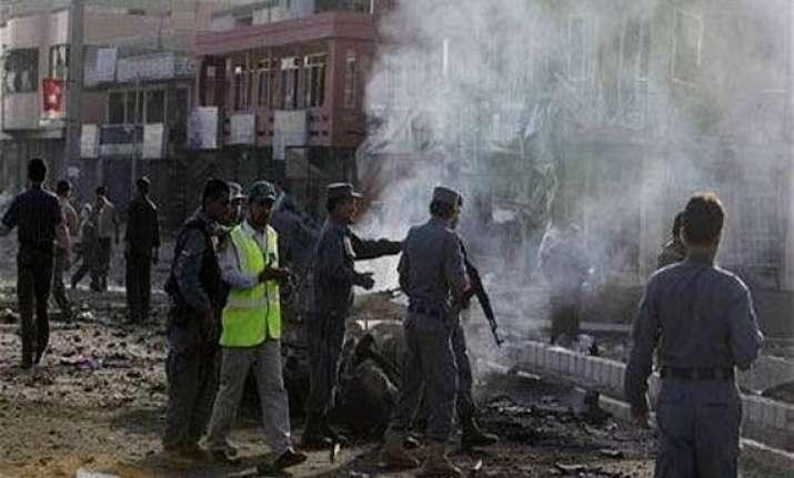 three huge blasts rock british council in kabul