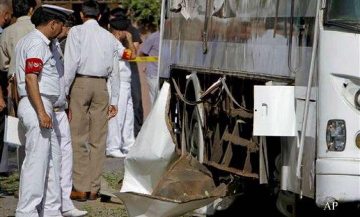 five killed in third blast targeting pak naval bus