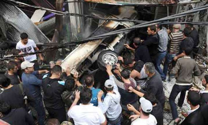 three killed as bomb rips through bus in syria