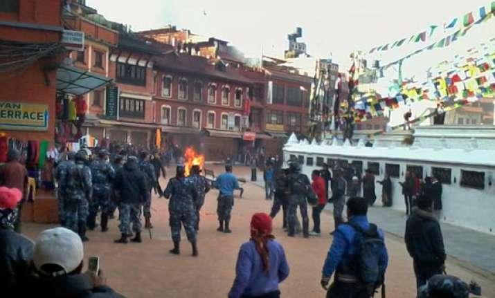 tibetan monk sets himself on fire in nepal