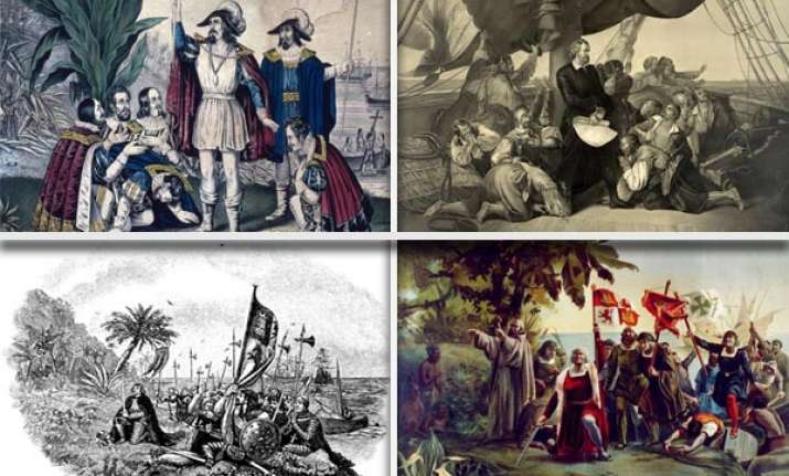 today in history columbus sets sail to discover india