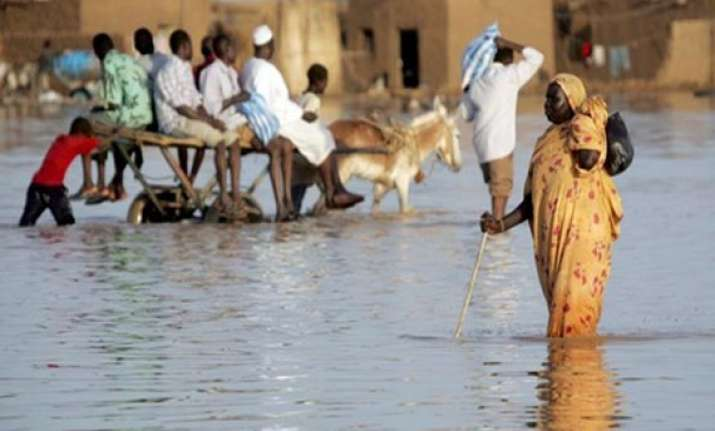 torrential rain floods kill 53 in sudan