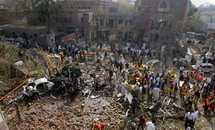 two dead 28 injured in lahore blast