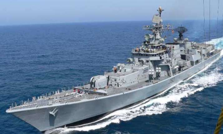 two indian warships dock in mozambique