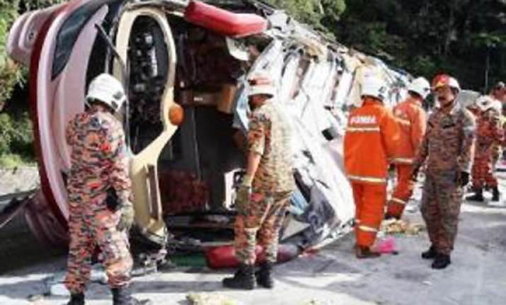 two indians dead 22 injured in malaysia road accident