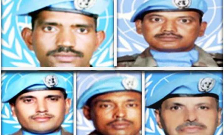 un to honour five indian peacekeepers who were killed