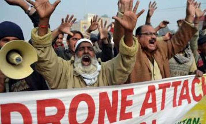 us drone attack kills two in pakistan first hit in ramadan