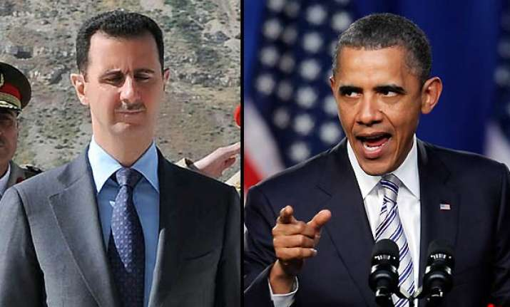 us asks assad to leave obama slaps sanctions on syrian