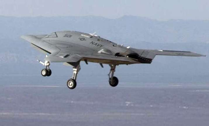 us ready with unmanned stealth bomber x 47b