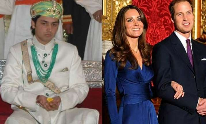 udaipur royalty to attend prince kate wedding