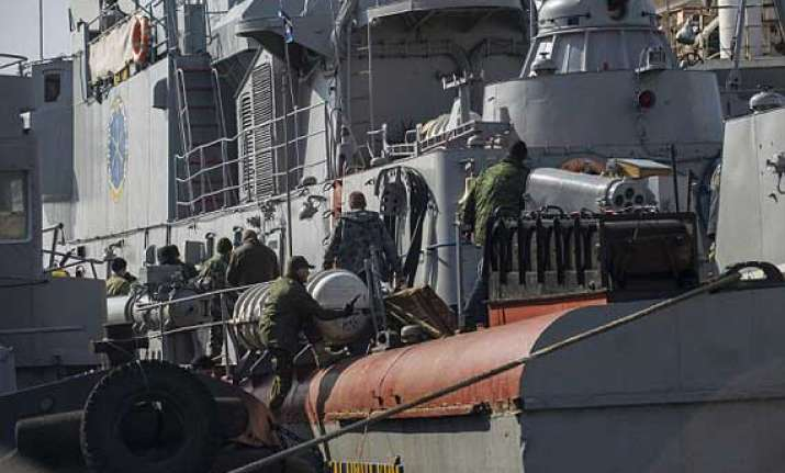 ukraine stripped of nearly all its warships in crimea