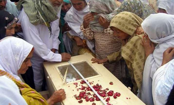 victims of pak air crash buried