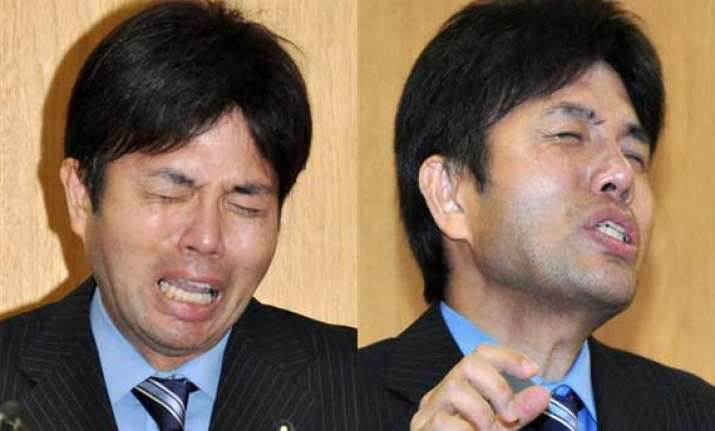 video of japan politician weeping goes viral