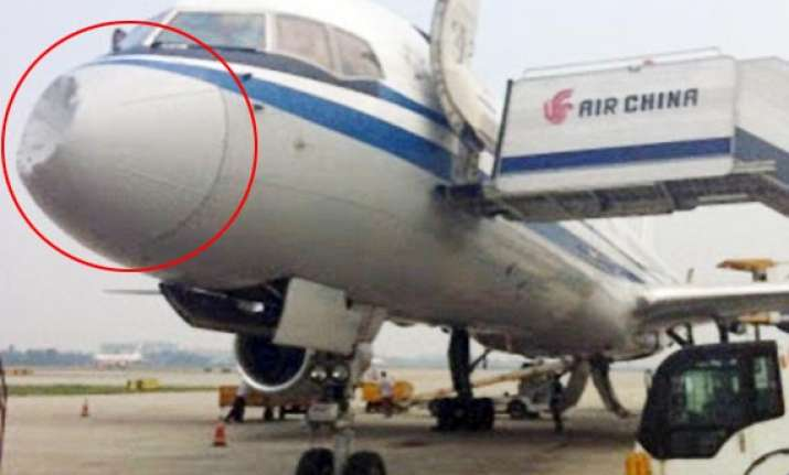 was air china jet hit by ufo