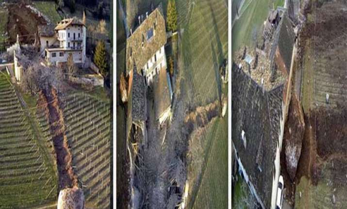 watch boulder nearly wipes out italian farmhouse