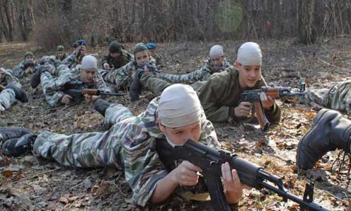 watch how russian army trains teenage kids to fire ak 47