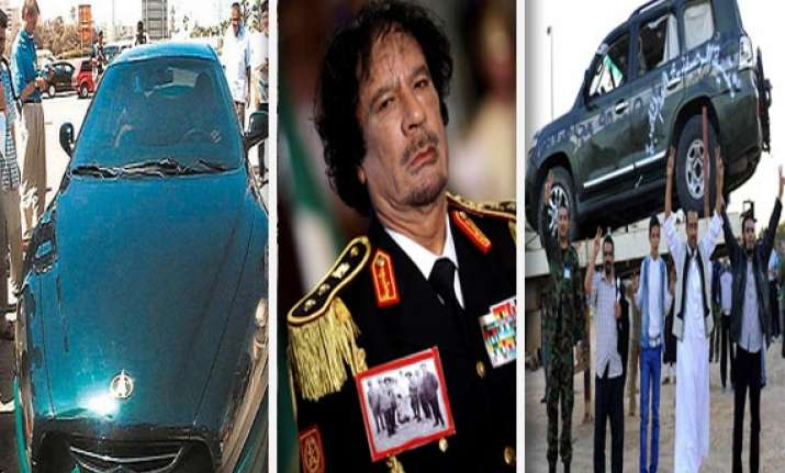 gaddafi s car collection watch in pics