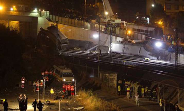watch spain derailment rescue operations in pics