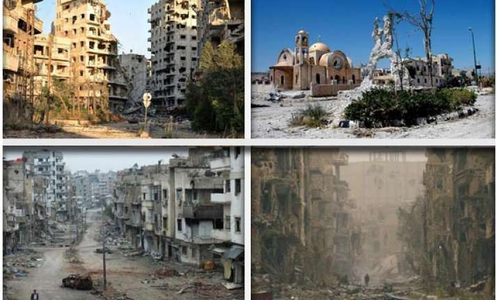 watch in pictures the ruins of war ravaged syria