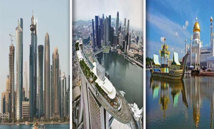 world s top ten richest nations india 126th
