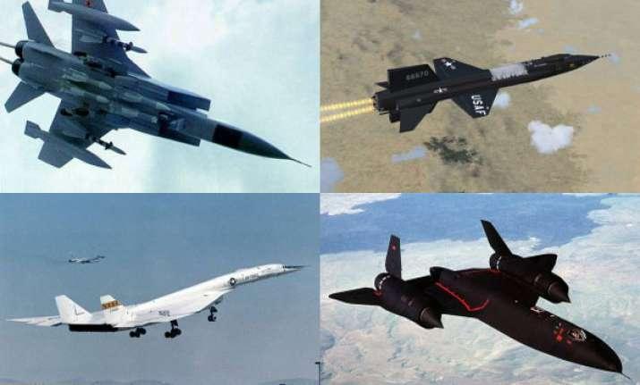 world s ten fastest jet aircrafts