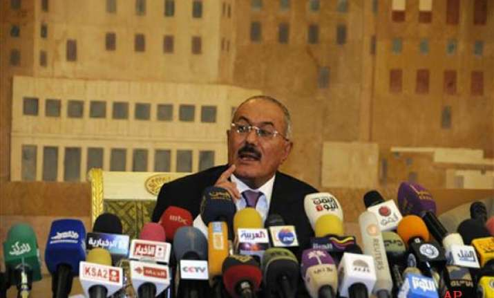 yemen president saleh says he plans a stay in us