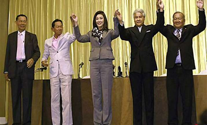 yingluck to lead thai coalition military accepts poll