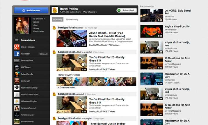 youtube renovates website with a new look format