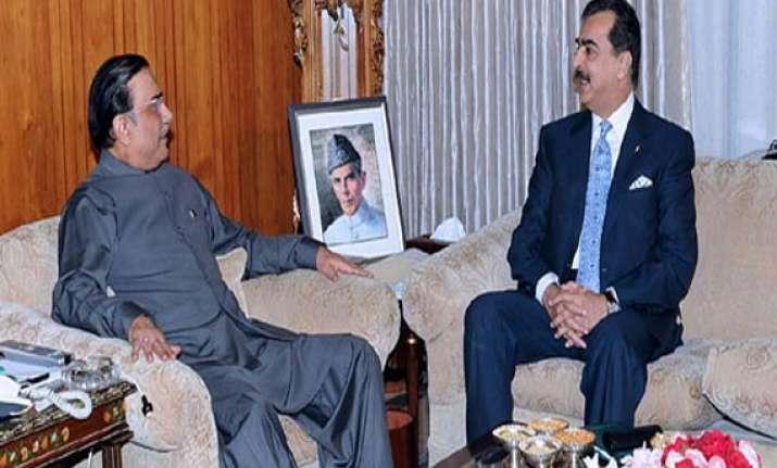 with rumours rife gilani meets zardari