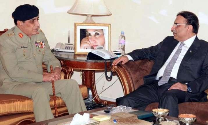 zardari kayani meet for first time since memogate tension
