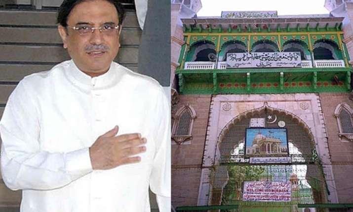 zardari wants to offer prayers at ajmer sharif dargah