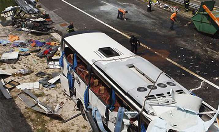 8 czechs killed 44 injured in croatia bus crash