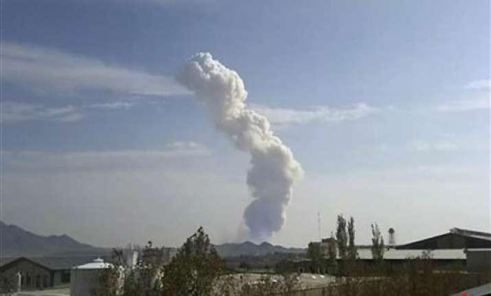 huge military base blast kills guards commander 16 others