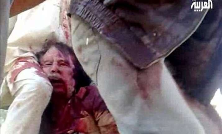 don t shoot pleaded gaddafi when captured