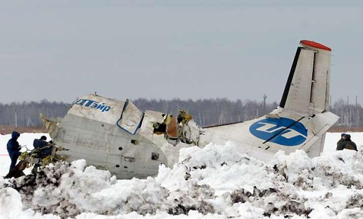 plane crash in siberia kills 31 of 43 on board