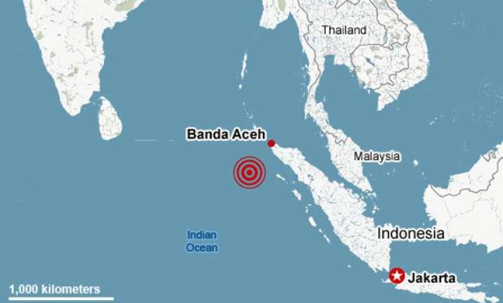 7.3 quake hits off indonesia panic no injuries