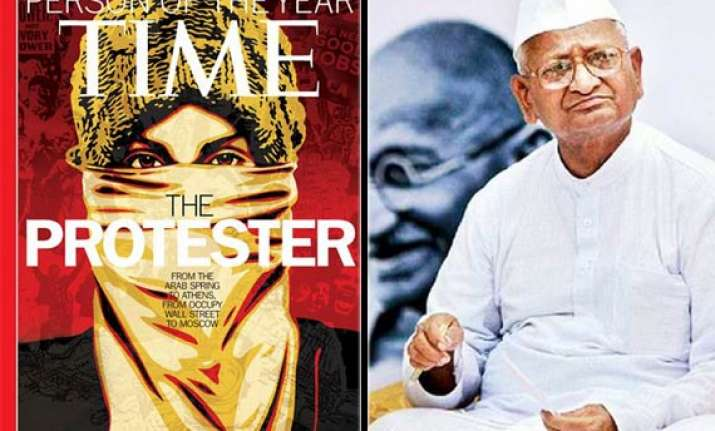 the protester representing hazare arab protesters is the